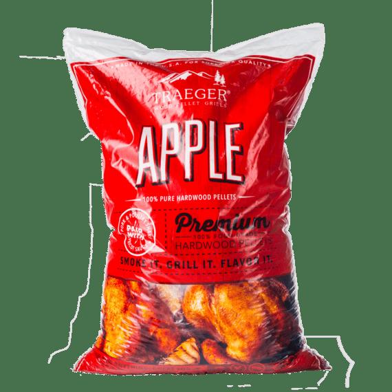Pellets Äpple Äpple är enligt många nr1 för griskött. Doften är behaglig, lite åt det söta hållet. Mild men ändå fyllig. Pellets av äpple är perfekt för pulled pork, ribs och andra detaljer från gris. Traegers träpellets är av absolut högsta kvalitet och med en garanterad renhet.
