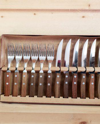 grillknivar tramontina med matchande gafflar 6 par 12 stycken i presentkartong