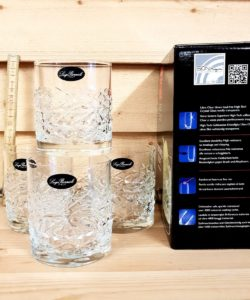 Bourbon Glas- 4 pack 38cl stort, rustikt och tungt glas för Whiskey on the rocks