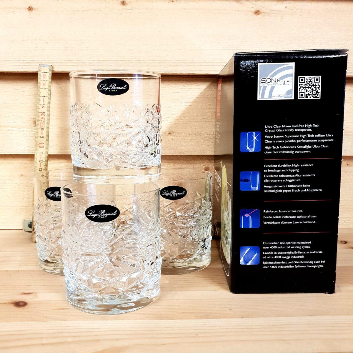 Bourbon Glas- 4 pack 38cl stort, rustikt och tungt glas för Whiskey on the rocks
