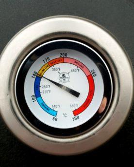 Kamado grill termometer 50 mm extra lång gänga 50 mm unik skala lättavläst termometer celcius och utvalda intervall fahrenheit