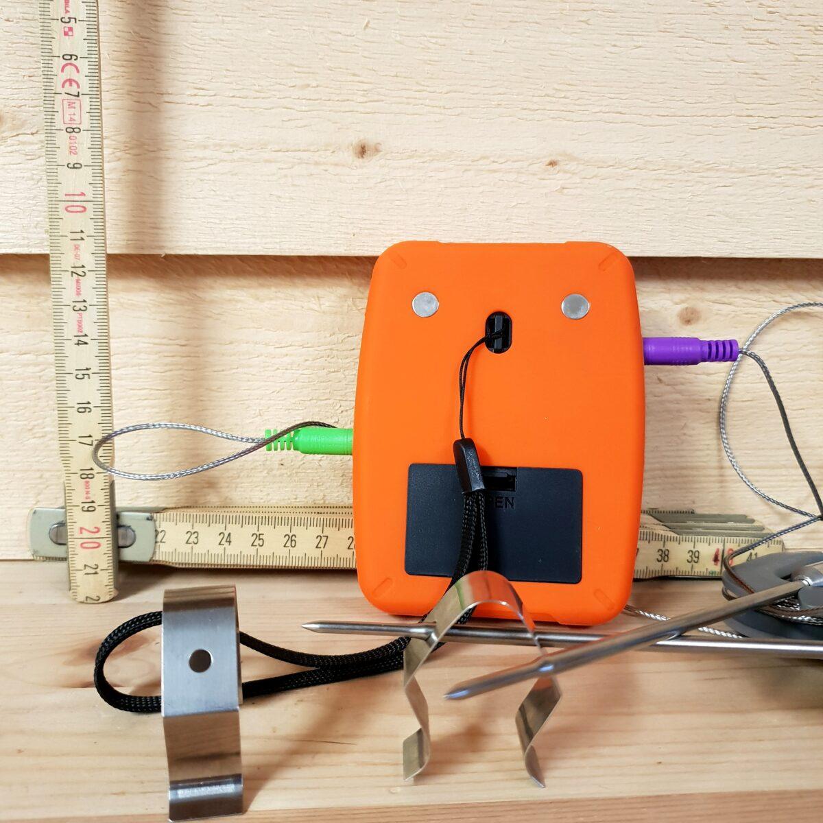 Trådlös termometer med lång räckvidd. Perfekt för BBQ och grillning. Har  ingång för upp e2d597c744fd8