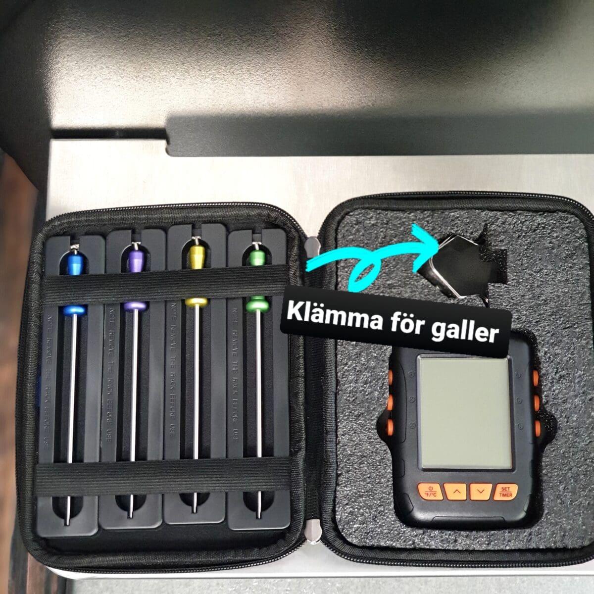 Trådlös, vattentät smart bluetooth termometer för BBQ och Grillning, lång räckvidd, inkl 4 givare