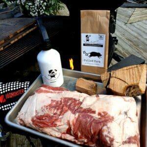 Pulled pork görs oftast på karré. I detta fall är det Iberico karré , alltså karré från den härligt ekollonfeta spanska grisen.