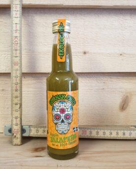 En grön hot sauce som har både styrka och syrlighet. Detta ger en fräsch ton som passar både till grillad fisk och grillad kyckling mm mm mmm