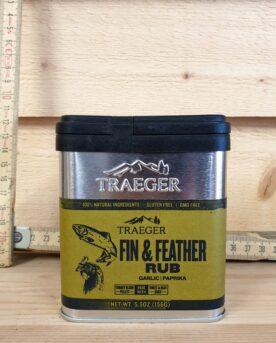 Att rubba en laxsida, en hel röding eller annan laxartad fisk känns som givna objekt för denna delikata rub. Fin & Feather är en örtig rub från Traeger - fin!