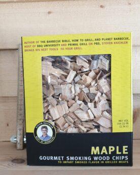 Rökflis av lönn maple kan med fördel användas till griskött och bacon. Testa att blanda med exempelvis äppleträ.