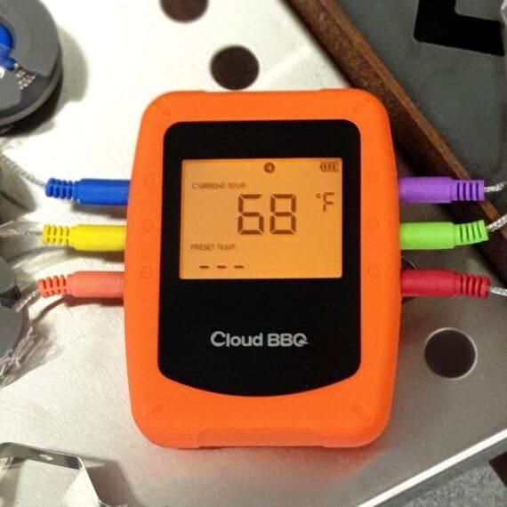 Trådlös Bluetooth termometer som inkluderar 6 stycken probes (givare) vilka är färgkodade