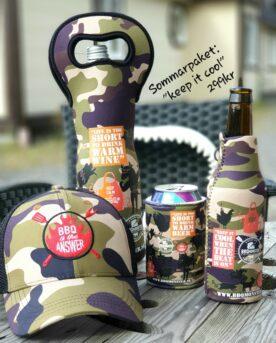 BBQmonsters sommarpaket keep it cool håller ditt huvud dina öl och ditt vin kyligt när spanska hettan, rysshettan och alla andra hettor anfaller