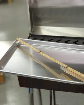 Ungs och kylskåpsanpassad aluminium bricka 45cm x 33cm 3cm hög kant