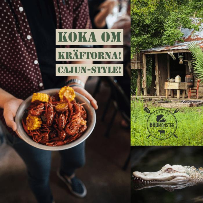 Tema Kräftskiva with a twist - koka om dina kräftor i denna färdigblandade Cajun Style kryddmix servera skaldjuren ljumna