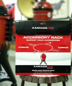 Tillbehörs Rack / Accessory RACK Uppgradera din 47 cm Kamado. Tillbehörsrack Kamado Joe Classic för Flexible cooking rack kallas även accessory rack och är en del av divide and Conquer systemet från Kamado joe Flexible Cooking Rack är grunden i det system som Kamado har döpt till det pampiga namnet