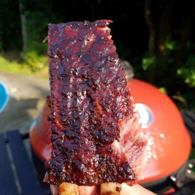 Revben från Iberico Gris är bland det bästa du kan göra på en grill under 5 till 6 timmar