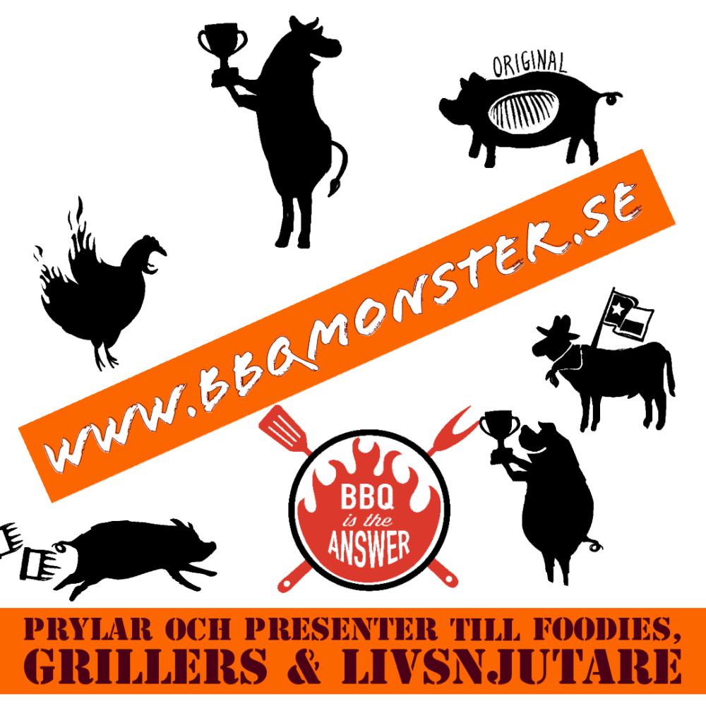 BBQmonster är en BBQbutik för livsnjutare där det är lätt att hitta den personliga och användbara presenten för en foodie en griller och en livsnjutare