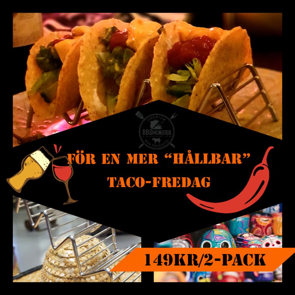 Taco hållare metall för en mer hållbar tacofredag tvåpack för 149 kr tål diskmaskin